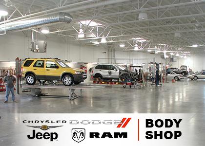 Top Auto Body Shop Car Paint Repair For Collisions - Chrysler shop