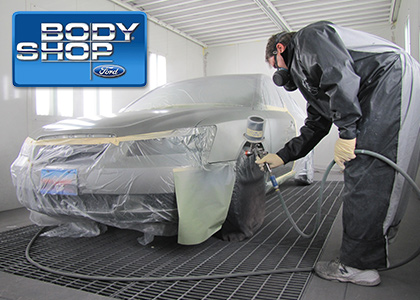 Our body shop services and building in Dallas TX