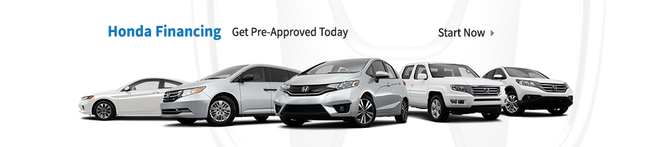 Auto financing on any new Honda vehicle for sale